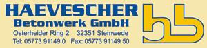 Sponsor Haevescher Beton